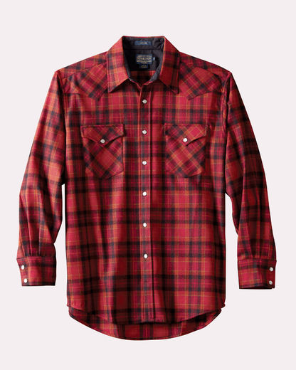Pendleton Canyon shirt Red/Bronze plaid DA085-32105
